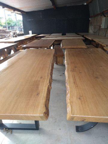 Mesas Rústicas, com os pés de ferro e também de madeira - Foto 4