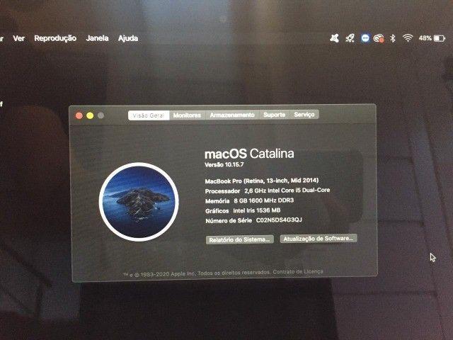 Macbook Pro 13 Mid 2014 A1502 / I5 2,6ghz / 8gb Ram / 256ssd - Foto 6