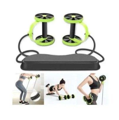 Aparelho para Treino Rodas / Elásticos  40 Exercícios / Musculação Malhar Fitness (A101)