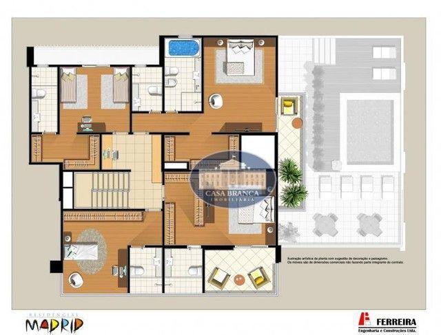 Cobertura Duplex - 4 suítes à venda, 414 m² por R$ 2.100.000 - Vila Santa Maria - Araçatub - Foto 4