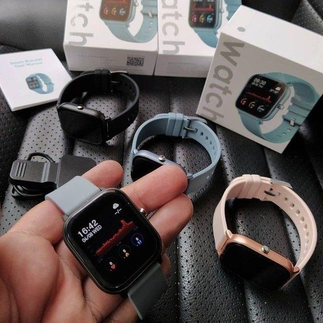 Relógio Smartwatch Colmi P8 Azul - Foto 4