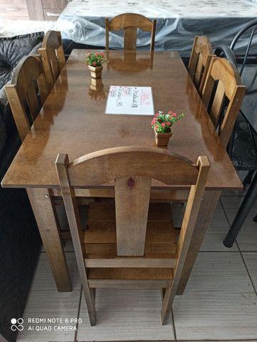 Oferta!Mesas de pedra e madeira com 04 ou 06 cadeiras  - Foto 5