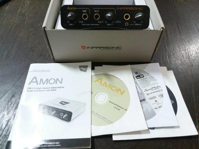 Audio interface com midi Amon