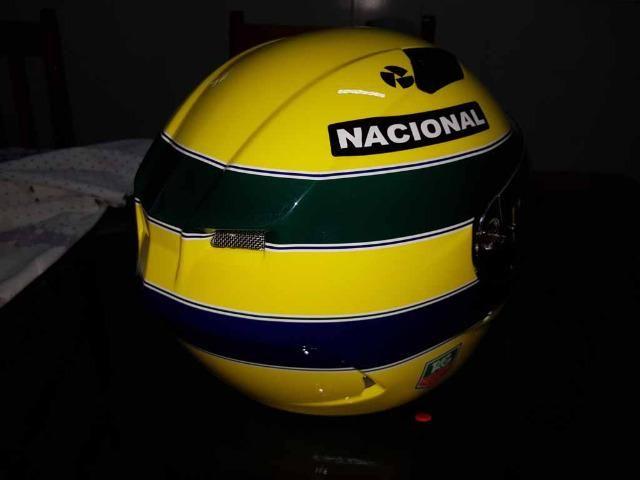 Capacete Personalizado Ayrton Senna - Novo - Sem uso - Na Caixa - Foto 14