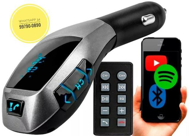 Transmissor FM Para Carro Bluetooth Usb