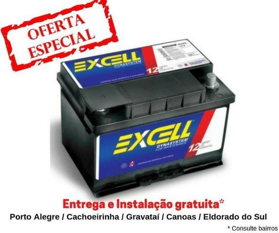 Bateria Excell 60Ah - Mais Barata do OLX