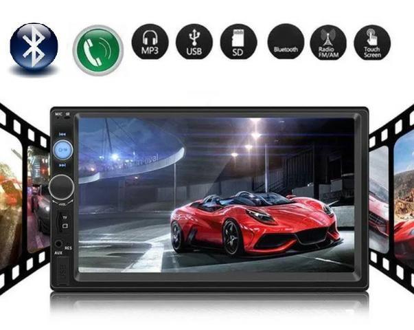 Central Multimídia Display Digital Bluetooth, Usb, Fm