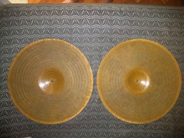 Hi Hat Zildjian Scimitar Bronze 14'' Contra tempo - Foto 2