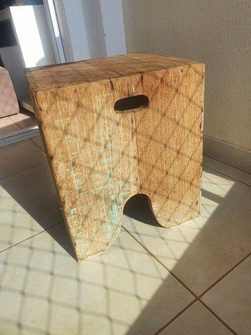 Vende-se banco/banqueta madeira rústica.  - Foto 4