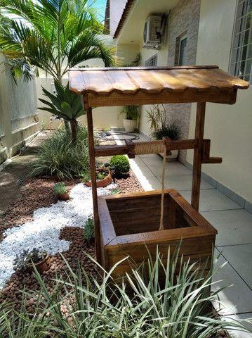 Pocinho para decoração de jardim
