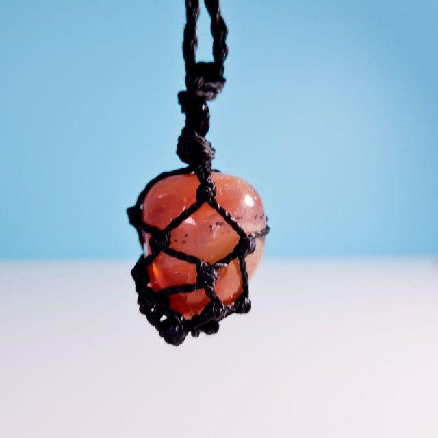 Kit 2 colares pedra hippie - Foto 3