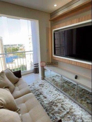 Apartamento Luxuoso Totalmente Mobiliado, 2 Quartos com Suíte em Condomínio Clube - Bairro - Foto 2