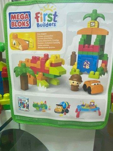 Mega bloks 70 peças Fisher Price construa dinossauro  - Foto 2