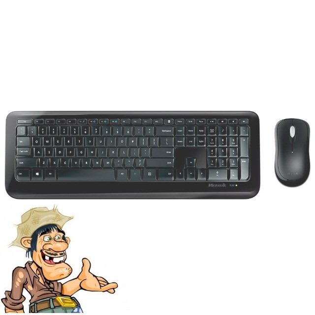 Kit Teclado e Mouse Microsoft Wireless 850 Novo Lacrado garantia - Foto 3