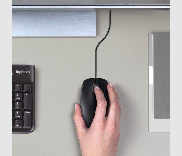 Mouse Óptico Com Fio 1.000 DPI Preto Logitech Novo, lacrado garantia - Foto 5