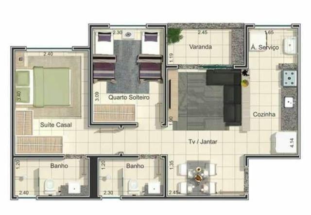 Apartamento à venda com 2/4 no bairro Shopping Park em Uberlândia - Foto 4
