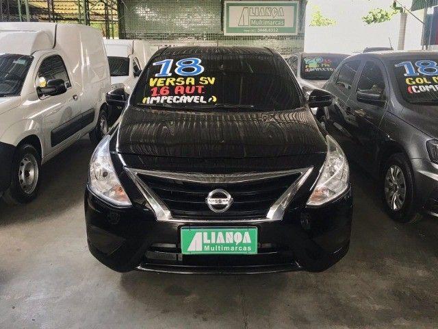 Nissan Versa 1.6 SV 2018 Automático com GNV