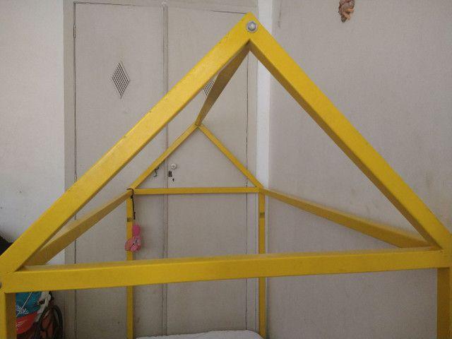 Cama casinha montesoriana de ferro - Foto 3