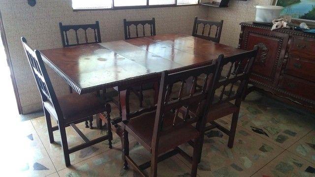 Mesa antiga em madeira nobre - somente a mesa
