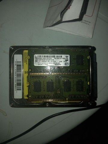 HD 500 giga e 2 memórias 2 gb