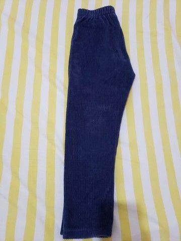Calça de veludo menina - Tam 3 - Foto 2