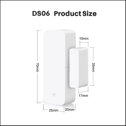 Sensor Inteligente Wifi Porta Janela Alexa Google Home Ds06 - Foto 2