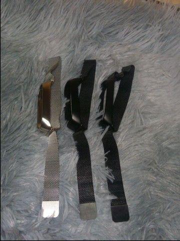 Pulseira Magnética Milanese, Pulseira De Aço Inoxidável Para Xiaomi Mi Band 5 6  - Foto 3