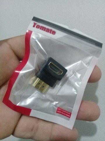 Adaptador HDMI 90 Graus - Novo  - Foto 2