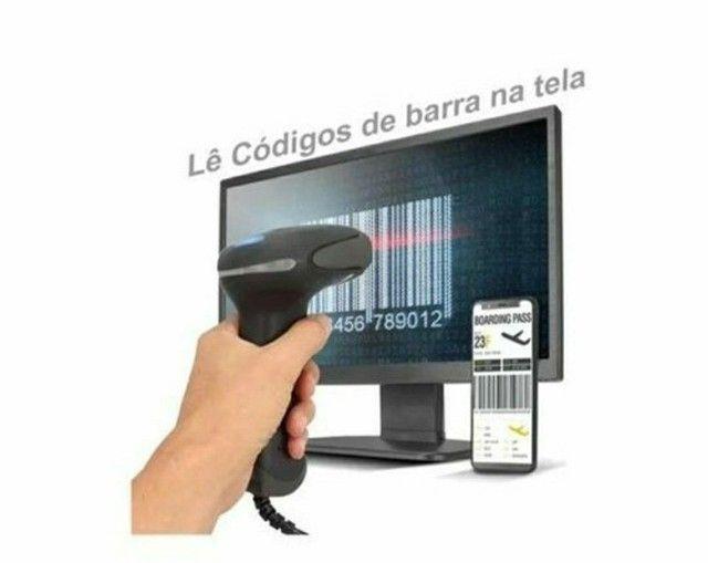 Leitor de Código de Barras Usb 1d Lê Boleto Na Tela, Monitor, e Celular - Foto 3