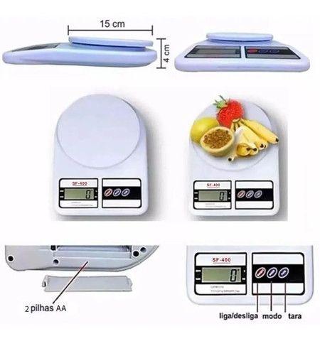 Balança de Cozinha Digital Megatom 7 Kg SF400 com Tara MGT - Foto 3