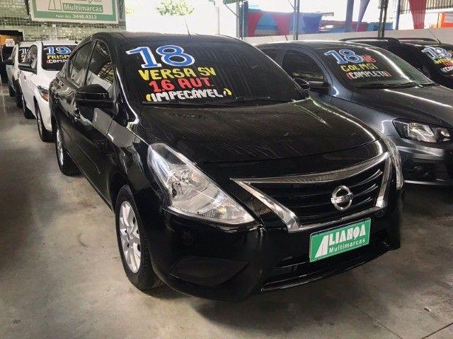 Nissan Versa 1.6 SV 2018 Automático com GNV - Foto 2