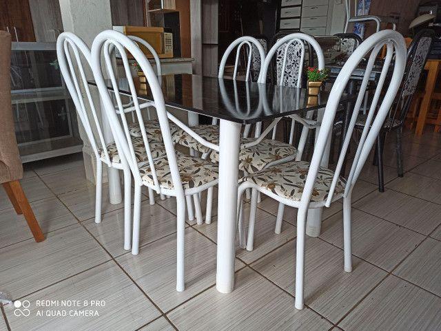 Oferta!Mesas de pedra e madeira com 04 ou 06 cadeiras  - Foto 2