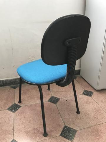 Cadeira para Escritório Tecido Azul