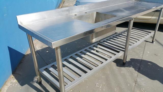 Pia em aço inox - Industrial 2.65 X 0.70 cm