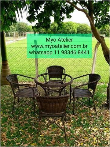 Mesas e Cadeiras em ferro e aluminio - Foto 4