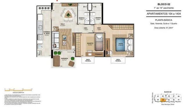 Apartamento de 2 quartos, no Engenho de Dentro, Condomínio Unique Stadio - Foto 10