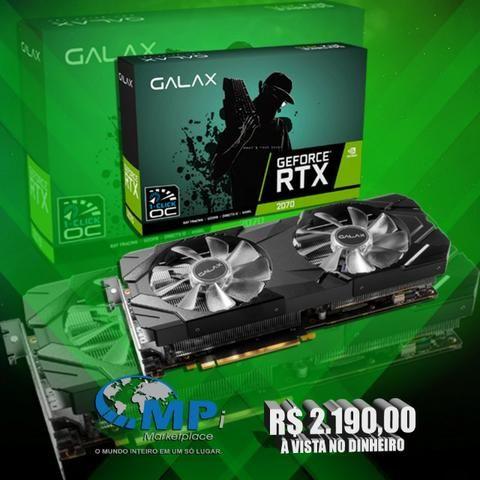 Placa De Vídeo Galax Geforce Rtx 2070 8gb Gddr6 Ex 1click Oc! Melhor preço, loja! opção12x