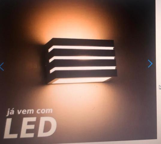 Arandela externa com LED nova