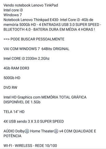 Notebook Lenovo - Foto 3