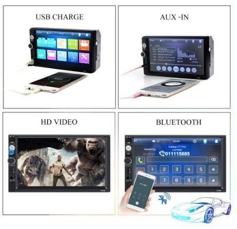 Central Multimídia Display Digital Bluetooth, Usb, Fm - Foto 6
