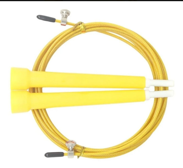 Corda crossfit 3 metros regulável cabo de aço revestido. - Foto 4