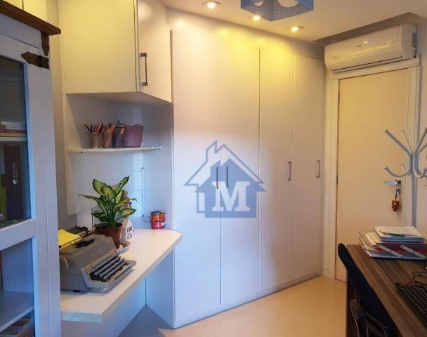 Lindo Apartamento Semimobiliado, 2 Suítes e 1 Quarto, Sacada Gourmet, no Centro! - Foto 11
