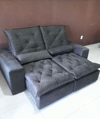 Sofá Retrátil e Reclinável Elegance 2,30m zxz208 - Foto 4