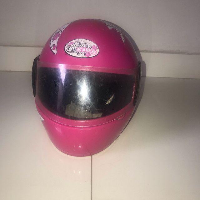 Capacete rosa tamanho 54 - Foto 2