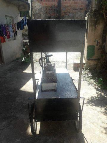 Carrinho de churrasco pra vender logo - Foto 2