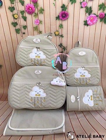 Kit de malas maternidade chuva de amor nuvem - Foto 2