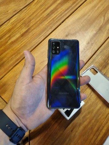 Samsung A71 na Garantia com Nota Fiscal  - Foto 2