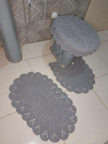 Jogo de banheiro em crochê simples - Foto 2