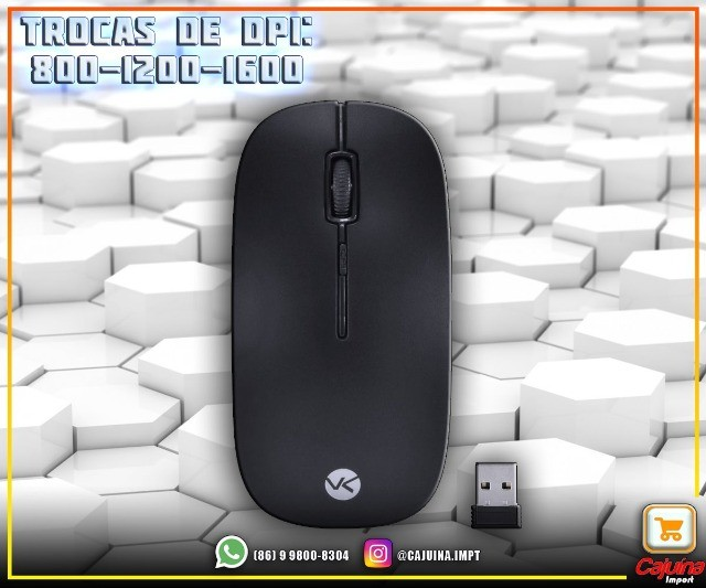 Teclado Mini E Mouse Sem Fio Dynamic Flat Abnt2 1200Dpi Preto Usb - Dc110 M21sd9sd21