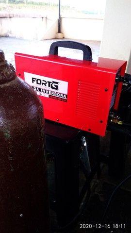 Máquina  de solda tiver (inox) 200 amperes com garrafa de argonio  e regulador de pressão